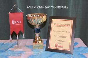 Susel valitsee vuosittain vuoden jäsenseuran .